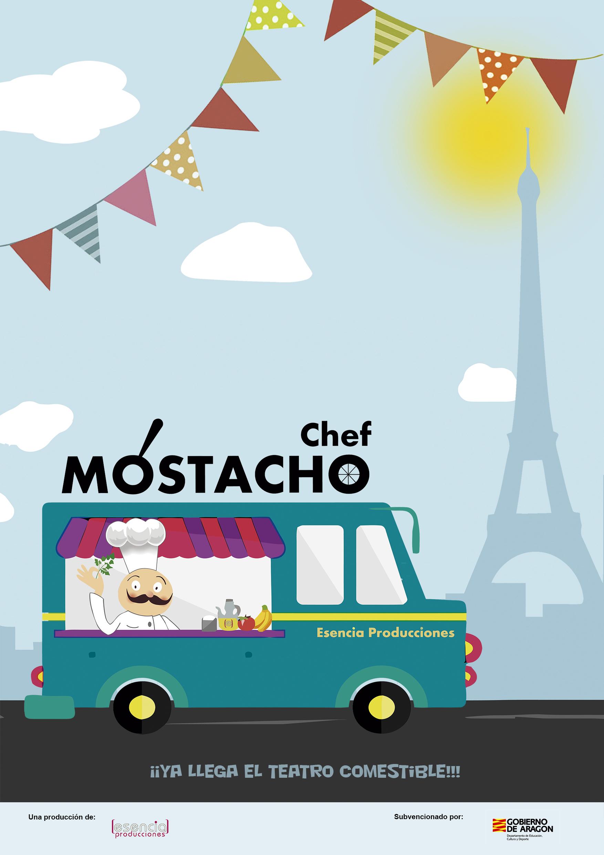Cartel de Chef Mostachó (A. Pardo)