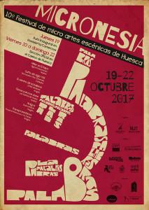 Cartel 10ª MICRONESIA Festival de Micro artes escénicas de Huesca