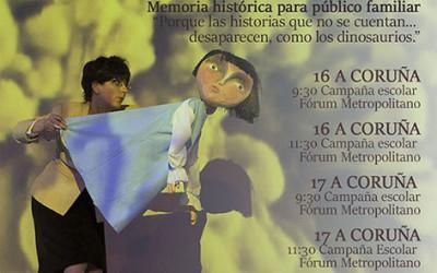 """Más de 1300 escolares gallegos disfrutaran del espectáculo de memoria histórica """"La niña azul"""""""