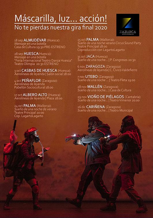 Gira final año 2020 Zazurca Artes Escénicas