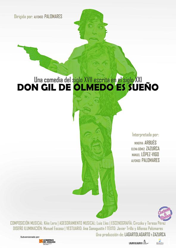 Cartel DON GIL DE OLMEDO ES SUEÑO (diseño Agustín Pardo)